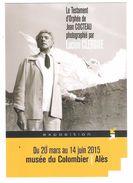 CP  Lucien CLERGUE  Jean COCTEAU  Expo ALES 2015 - Illustrateurs & Photographes