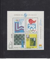 Olympics 1980 - Chess - URUGUAY - Sheet - Summer 1980: Moscow