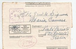 C 148) PRIGIONIERI DI GUERRA -DA STALAG 57 1944 - 1900-44 Vittorio Emanuele III