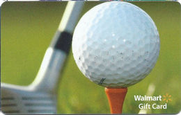 Walmart Gift Card With Textured Golf Ball - Gift Cards