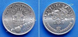 CROATIA 50 Lipa 1996 ANNIVERSARY EUROPEAN SOCCER ENGLAND - Croatia