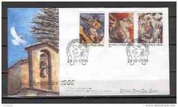 Cyprus 1986 (Vl 495-497) Christmas FDC - Cristianismo