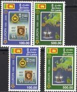 CEYLON Queen Victoria Sri Lanka 1525/6+ZD-Paar ** 30€ Schiffe EUROPA 1956-2006 M/s Ships Se-tenant Bf 50 Years CEPT - Sri Lanka (Ceylan) (1948-...)