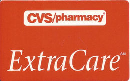 CVS Pharmacy Extra Care Customer Rewards / Loyalty Card With Barcode Near Top - Gift Cards
