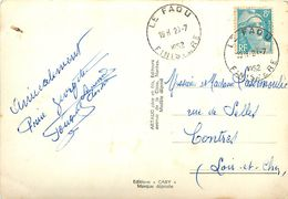 PIE 17-GAN-7422 : LE FAOU FINISTERE CACHET MUNUEL 1952 SUR CARTE POSTALE DE BREST - Marcophilie (Lettres)