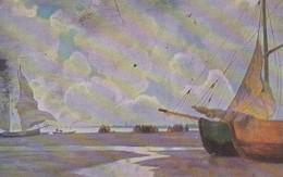 AK Künstlerkarte - Segelboote Am Strand - Ca. 1920 (30684) - Voiliers