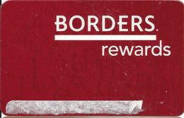 Borders / Waldenbooks - Borders Rewards Card - Customer Rewards / Loyalty Card - Gift Cards