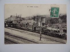 14 VIRE La GARE Train à Vapeur Locomotive Chemin-de-Fer E.Lebaudy édit - Vire