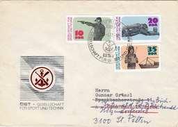 DDR Brief 1977, Gesellschaft Für Sport Und Technik, Schöne 3 Fach Frankierung - [6] Democratic Republic