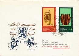DDR Brief 1977, Alte Instrumente Aus Dem Vogtland, Schöne 2 Fach Frankierung - [6] Democratic Republic