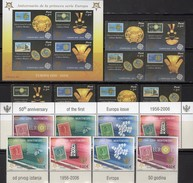 EUROPA 2006 Goldschmuck Peru 2030/3 4-Block,Bl.32,Montenegro 108/1+ZD ** 39€ Stamps ESPANA Ss Blocs Bf 50 Year CEPT - Emissions Communes