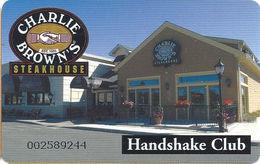 Charlie Browns Steakhouse Handshake Club - Customer Loyalty Card - Gift Cards