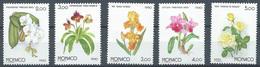 Monaco YT N°1710/1714 Exposition Florale Internationale Osaka 90 Fleurs Neuf ** - Neufs