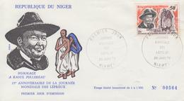 Enveloppe  FDC  1er  Jour  NIGER     FOLLEREAU    Journée  Mondiale  Des  Lépreux  1978 - Disease