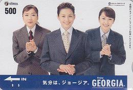 Carte Prépayée  Japon - Boisson COCA COLA  GEORGIA  Femme Girl - COKE Japan Prepaid Card  - 4091 - Lebensmittel