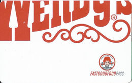 Wendy's Gift Card - White Back - Copyright 2008 - Gift Cards