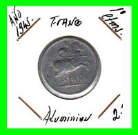 ESPAÑA  MONEDA DE 10 CENTIMOS .  ALUMINIO  AÑO  1945 - 10 Céntimos