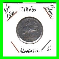 ESPAÑA  MONEDA DE 10 CENTIMOS .  ALUMINIO  AÑO  1941 - 10 Céntimos