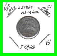 ESPAÑA  MONEDA DE 5 CENTIMOS .  ALUMINIO  AÑO  1940 - [ 4] 1939-1947 : Gobierno Nacionalista