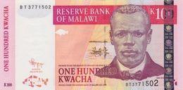 MALAWI 100 KWACHA 2011 P-54e UNC [MW145f] - Malawi
