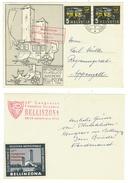 Suisse // Schweiz // Switzerland //1950-1959 // 66ème Congresso Filatelico Bellinzona 22-23.09.1956 + Vignette - Zwitserland