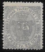 +AÑO 1874.FILIPINAS TELEGRAFOS 1 NUEVO. GOMA ORIGINAL.  VC 330 - Philippines