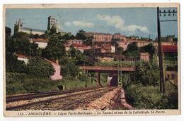 ANGOULEME--1945-Ligne Paris-Bordeaux--Le Tunnel Et Vue De La Cathédrale St Pierre--cachet Militaire .... à Saisir - Angouleme