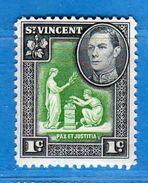 SAINT VINCENT - 1952 **- GEORGE VI Et Vues Diverses  -Yv. 164  - MNH. . Vedi Descrizione - St.Vincent (1979-...)