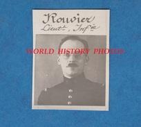 Photo Ancienne Style Portrait D'identité - Lieutenant ROUVIER - 5e Régiment D' Infanterie - Officier - War, Military