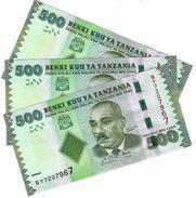 TANZANIA 500 SHILLINGS ND (2011) P-40a UNC 3 PCS [TZ139a] - Tanzanie
