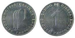 01275 GETTONE TOKEN JETON FICHA TUNISIA CASINO DE DJERBA GROUPE PARTOUCHE 1 - Casino
