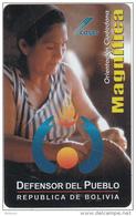BOLIVIA - Defensoria Del Pueblo, Cotas Telecard 6 Bs., 03/03, Used - Bolivia