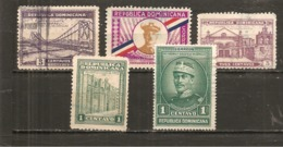 República Dominicana - Lote 5 Sellos Años 30 (usado) (o) - República Dominicana