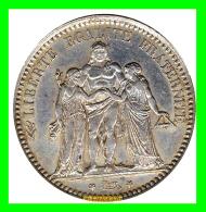 FRANCIA   MONEDA DE 5 Francos. PLATA   AÑO 1873 - A - J. 5 Francos