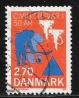 Denmark, Scott # 851 Used Civil Defense, 1988, Short Perf - Denemarken