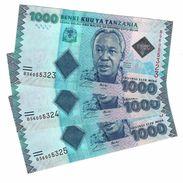 TANZANIA 1000 SHILLINGS ND (2015) P-41b UNC 3 PCS [TZ140b] - Tanzania