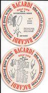 Sottobicchiere Mat Coaster Deckel Posavasos BACARDI GOLF TIPS RON RARE - Bierviltjes
