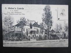 AK WIEN II. Prater Weber Csarda Restaurant 1908 /// D*27366 - Prater