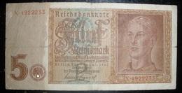 Billet 5 Reichsmark - 1939-45