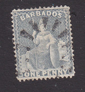 Barbados, Scott #51, Used, Britannia, Issued 1875 - Barbados (...-1966)