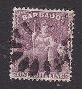 Barbados, Scott #56, Used, Britannia, Issued 1875 - Barbados (...-1966)