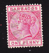 Barbados, Scott #61, Used, Victoria, Issued 1882 - Barbados (...-1966)