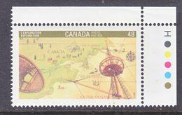 CANADA  1406  **   CHART  MAP - 1952-.... Reign Of Elizabeth II