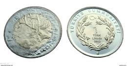 TURKEY 2012 1 Lira DEER UNC - Türkei