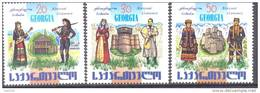 2002. Georgia, National Costumes, 3v, Mint/** - Georgia