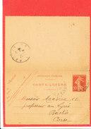 Carte Lettre Envoyée A M MANSION Professeur Au Lycée à BASTIA - Non Classés