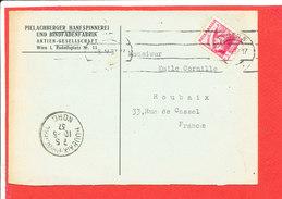 WIEN Pielachberger Hanfspinnerei Document Commercial Envoyé A M CORNILLE à ROUBAIX - Autriche