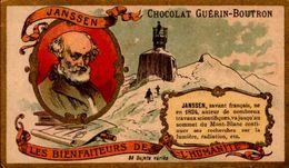 CHROMO GUERIN-BOUTRON..LES BIENFAITEURS DE L'HUMANITE..JANSSEN - Guerin Boutron