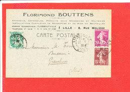 Florimond BOUTTENS LILLE Document Commercial Envoyé A M Torris GRAVELINES - Droguerie & Parfumerie