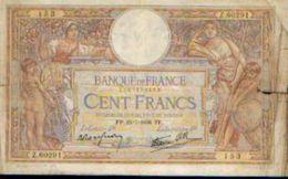FRANCE -  100 Francs 15=7=1938 - 100 F 1908-1939 ''Luc Olivier Merson''